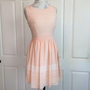 Stitch Fix Skies are Blue Peach Geo Print Dress